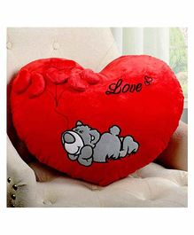 FunBlast Heart Shape Pillow - Red