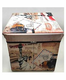 FunBlast Foldable Printed Storage Box - (Design & Color May Vary)
