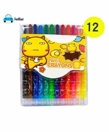 FunBlast Coloring Twist Crayons Pen - 12 Colors