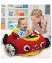 Little Tikes Soft Plush Car Shaped Sofa with Horn - Red