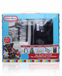Little Tikes 6 Piece Stroller Accessory Set - Blue Grey