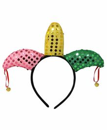 Fiddlerz Sequin Hair Band with Bells - Multicolour