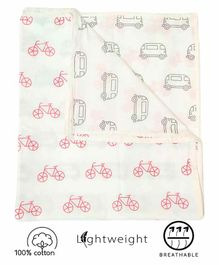 Rio Newborn Baby Pure Cotton 3 Layer Wrapper Cum Blanket - White