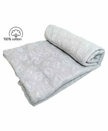 Rio Pure Cotton Handmade Baby Quilt - Grey