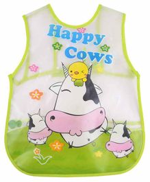 Yellow Bee Water Proof Bib Cow Print - Multicolour