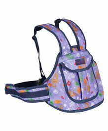 Magic Seat 2 Wheeler Kids Safety Belt Rocket Print - Purple
