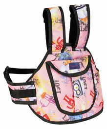 Magic Seat 2 Wheeler Kids Safety Belt Multi Print - Pink