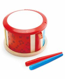 Hape Double Sided Drum with Sticks - Multicolor