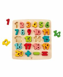 Hape Wooden Numbers Board - Multicolour
