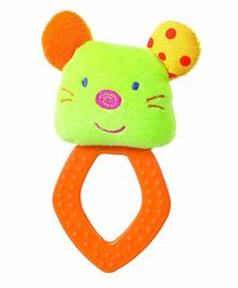 Babyfehn Grabber Plush Mouse with Rhombus Teether - Multicolour