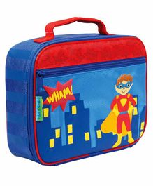 Stephen Joseph Insulated Lunch Box Bag Super Hero Print - Blue Red