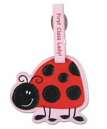 Stephen Joseph Luggage Tag Ladybug Design - Red  Black