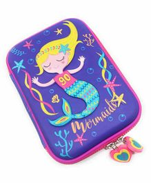 FunBlast Multipurpose Zipper Pencil Pouch Mermaid Print -  Blue