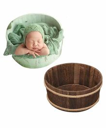 Babymooon Wooden Bowl Photo Prop - Brown
