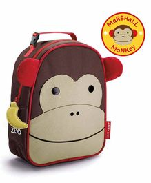 Skip Hop Monkey Design Insulated lunch Bag - Brown