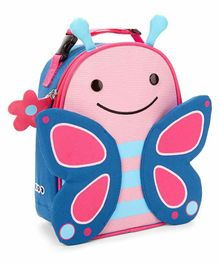 Skip Hop Butterfly Design Insulated lunch Bag - Blue Pink