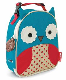 Skip Hop Zoo Lunchie Insulated Lunch Bag Owl Design - Blue