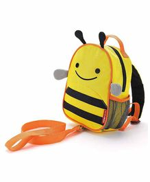 Skip Hop Mini Backpack With Safety Harness Bee Design - 9 Inches