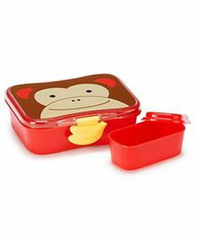 Skip Hop Monkey Design Lunch Box - Red