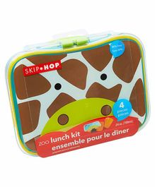 Skip Hop Giraffe Design Lunch Box - Brown