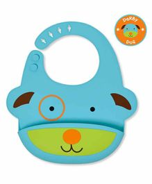 Skip Hop Silicon Bib With Crumb Catcher - Sky Blue