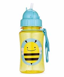 Skip Hop Water Bottle With Pop Up Straw Yellow & Blue - 355 ml