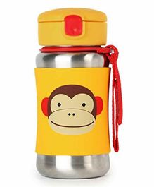 Skip Hop Stainless Sipper Bottle Monkey Print Yellow - 350 ml