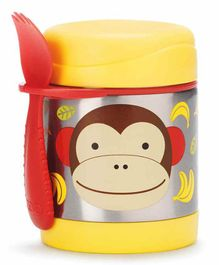 Skip Hop Stainless Steel Insulated Lunch Box Monkey Print - Yellow