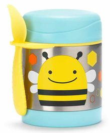 Skip Hop Stainless Steel Insulated Lunch Box Honey Bee Print - Blue