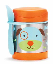 Skip Hop Stainless Steel Insulated Lunch Box Puppy Print - Orange