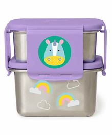 Skip Hop Stainless Steel Lunch Box Unicorn Print - Purple