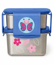 Skip Hop Stainless Steel Lunch Box Butterfly Print - Blue