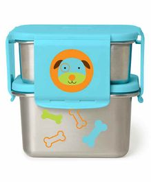 Skip Hop Stainless Steel Lunch Box Puppy Print - Blue