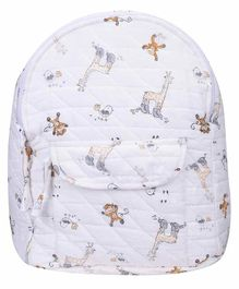 Mom's Home Baby Diaper Backpack Animal Print - White