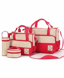 My NewBorn Premium Diaper Bag Set - Red