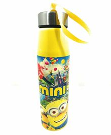 FunBlast Double Wall Insulated Stainless Steel Minions Print Yellow - 500 ml
