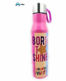 FunBlast Double Wall Insulated Stainless Steel Water Bottle Pink - 800 ml