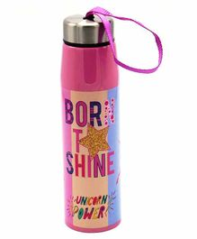 FunBlast Double Wall Insulated Stainless Steel Water Bottle Pink - 500 ml