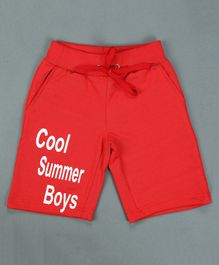 RAINE AND JAINE Cool Summer Boys Printed Shorts - Red