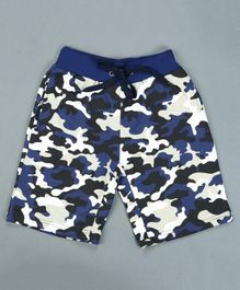 RAINE AND JAINE Camouflage Print Detailing Shorts - Blue
