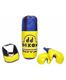 Toyshine Dixon Kids Royal Polyester Boxing Kit with Gloves and Head Guard - Yellow