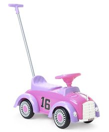 Babyhug Classic Racer Manual Ride On - Pink