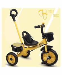 Little Olive Tricycle with Push Handle - Yellow