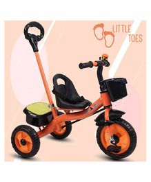 Little Olive Tricycle with Push Handle - Orange