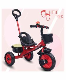 Little Olive Tricycle with Push Handle - Red
