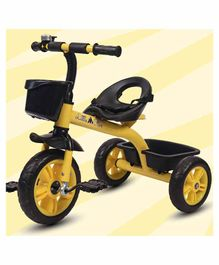 Little Olive Bugs Bunny Tricycle with Storage Baskets - Yellow