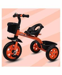 Little Olive Bugs Bunny Tricycle with Storage Baskets - Orange