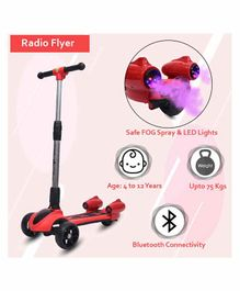 Little Olive Radio Flyer Foldable Scooter with Disco Lights - Red