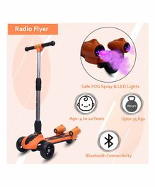 Little Olive Radio Flyer Foldable Scooter with Disco Lights - Orange