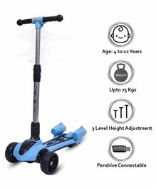 Little Olive Radio Flyer Foldable Scooter with Disco Lights - Blue